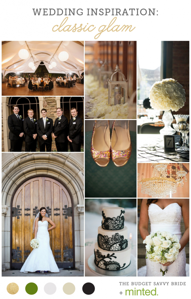 Minted - Classic Glam Wedding Inspiration Color Scheme