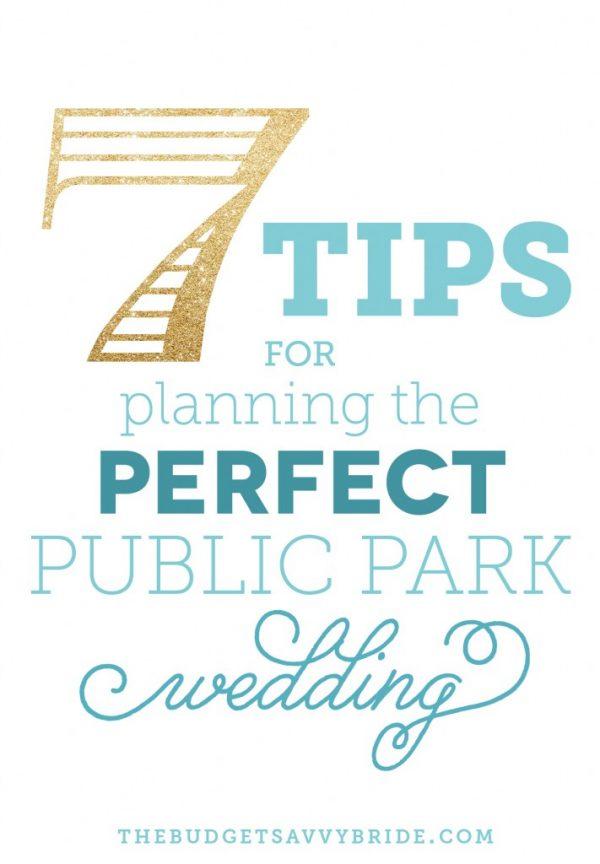 public park wedding