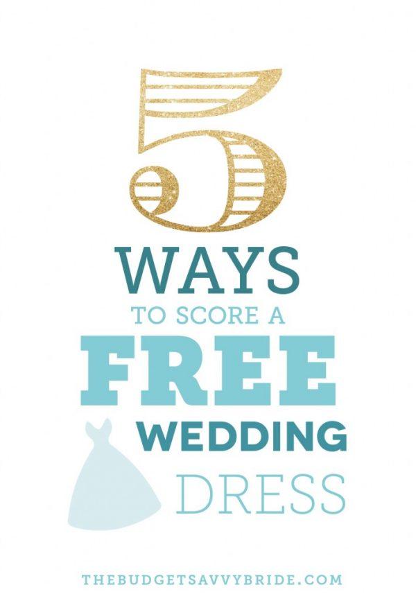 score a free wedding dress