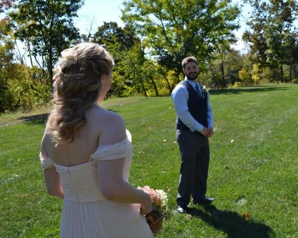 non-traditional park wedding