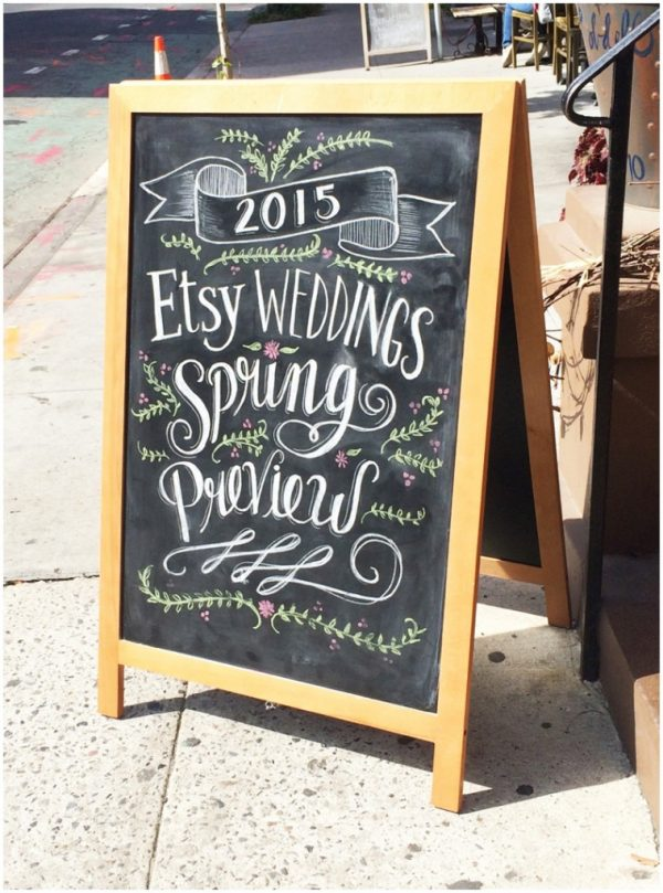 etsy weddings spring 2015 - chalkboard sign by Lily & Val