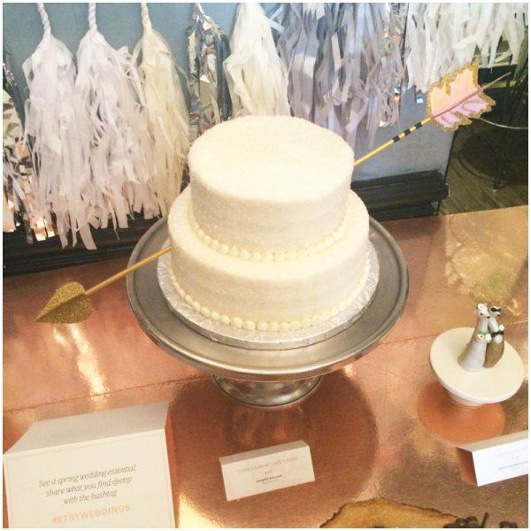 creative cake decoration   etsy weddings spring 2015