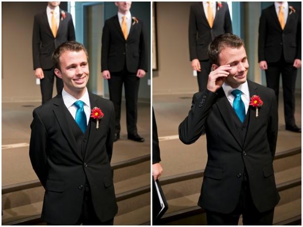 sweet groom reaction