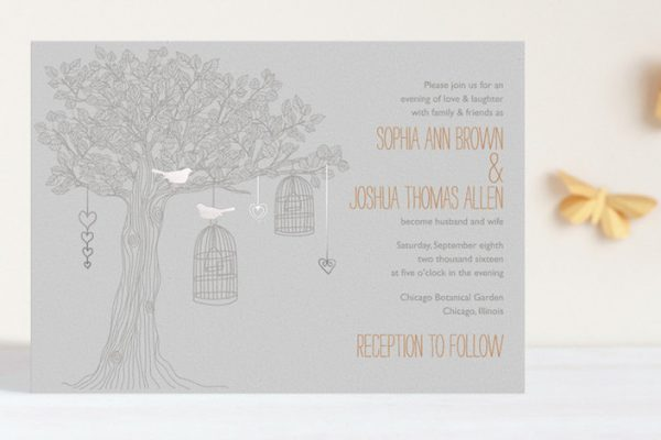 fall wedding invitations from minted