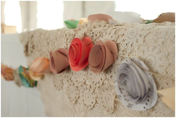 paper flowers wedding decor