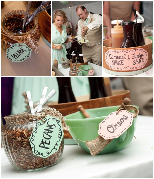 wedding sundae bar