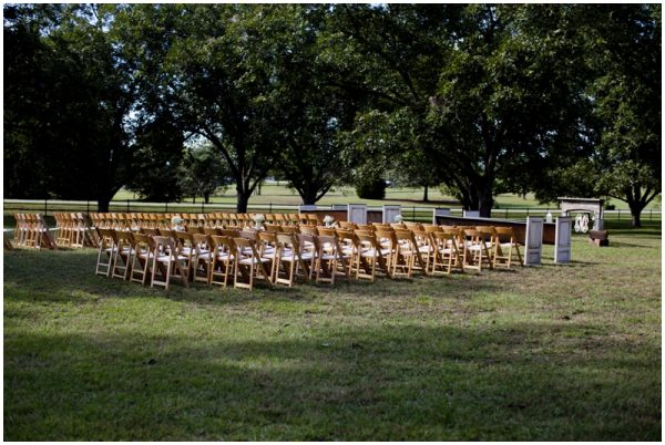rustic wedding ceremony setup