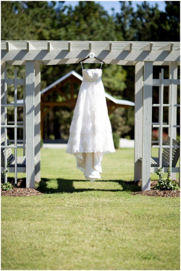 rustic wedding dress hanger