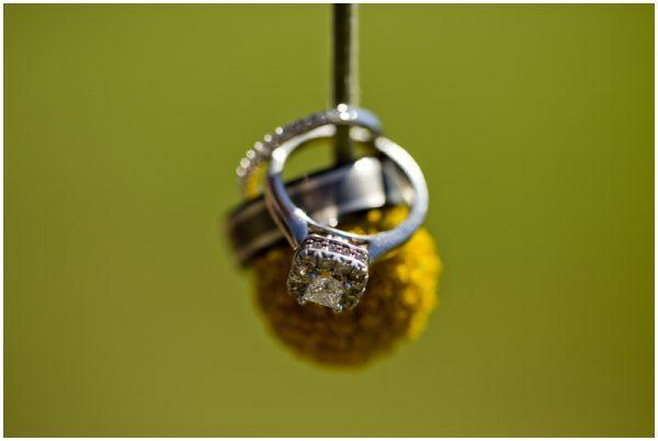 rustic wedding ring shot billy ball