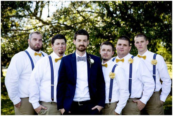stylish groomsmen rustic wedding