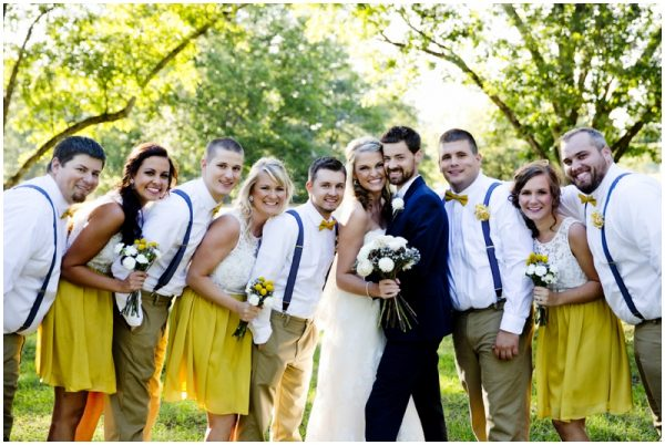 hipster bridal party rustic wedding