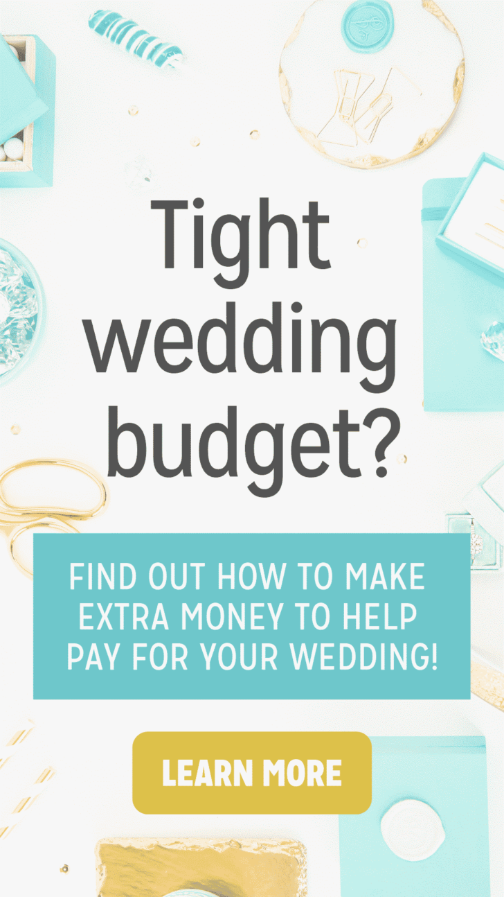 tight wedding budget earn extra money
