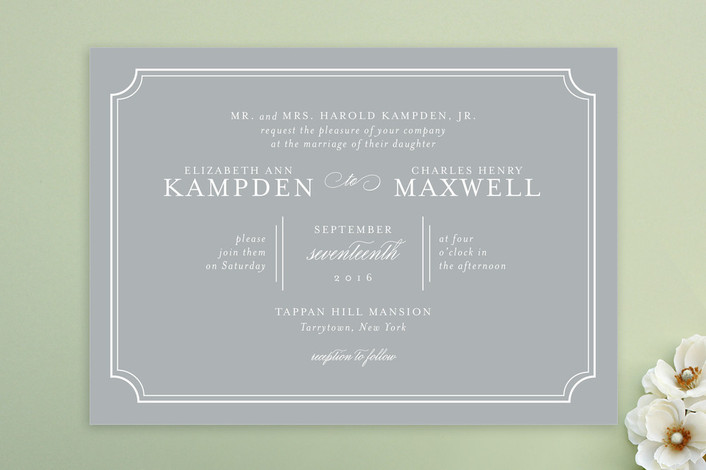 look for less winter wedding invitation - Minted flat printed wedding invitation