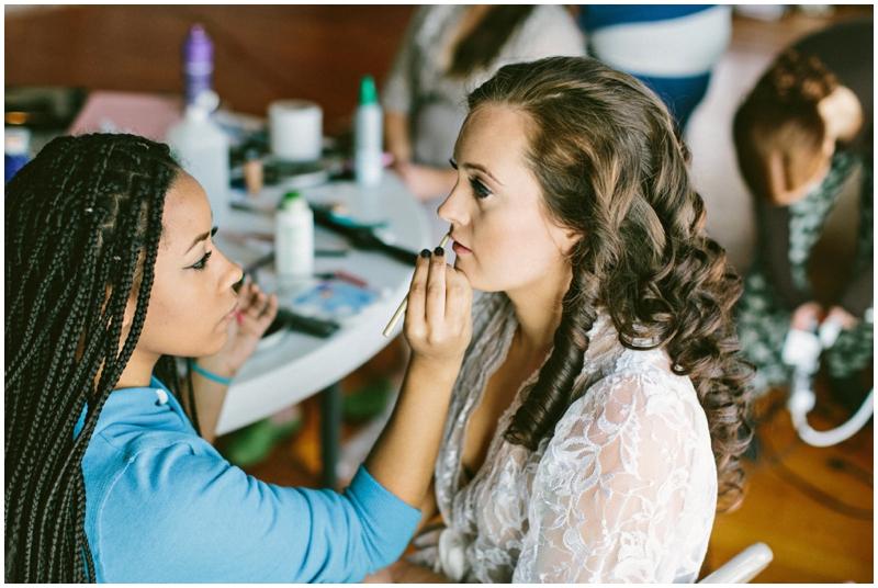 bride makeup wedding day