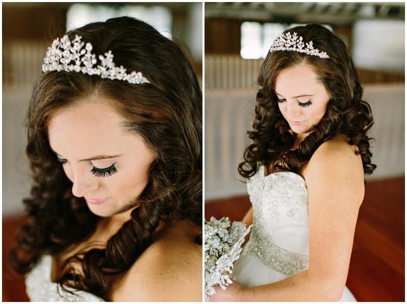 winter wedding bride tiara