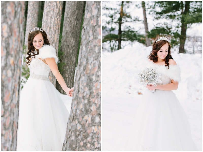 www.james-stokes.com winter wedding - bride in the snow pictures