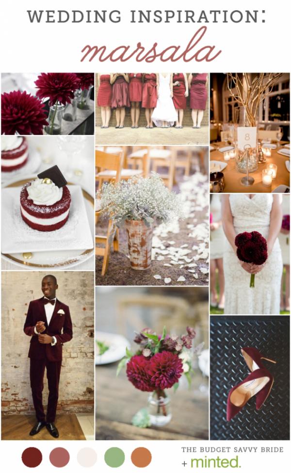 marsala wedding inspiration from Minted!
