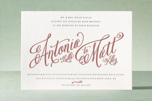 Minted Wedding Invitation - Marsala Wedding Inspiration