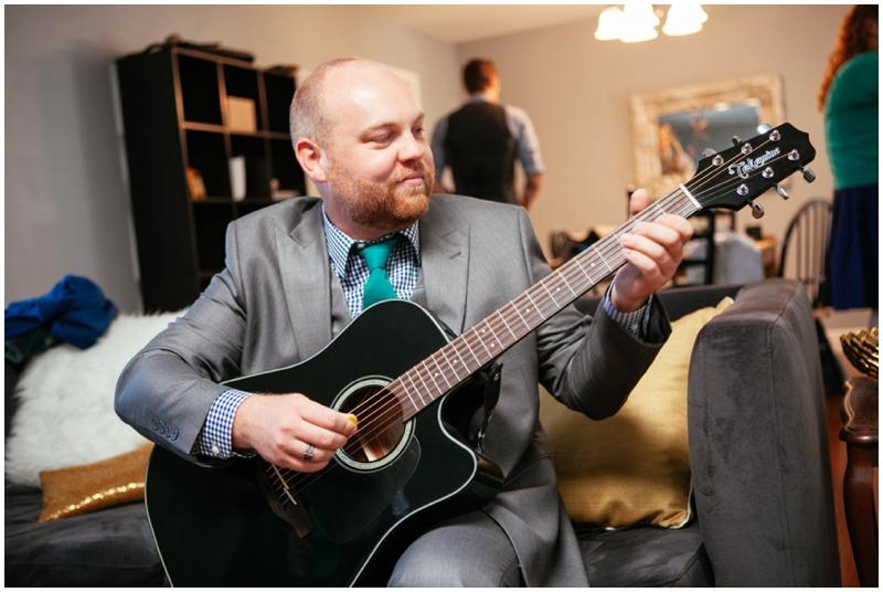 groom's gift guitar