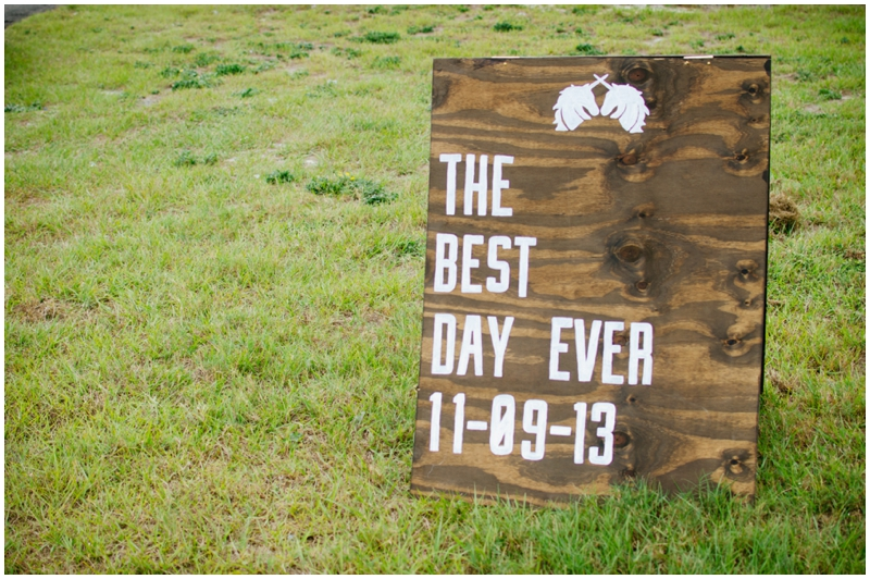 best day ever - wedding sign