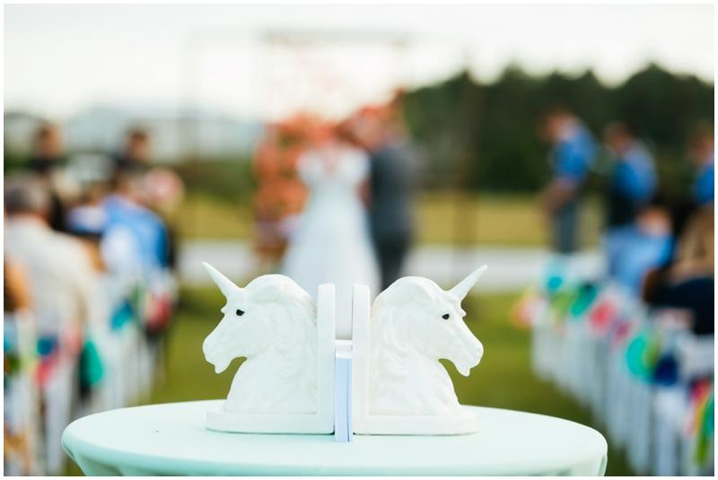 unicorn wedding ceremony decor
