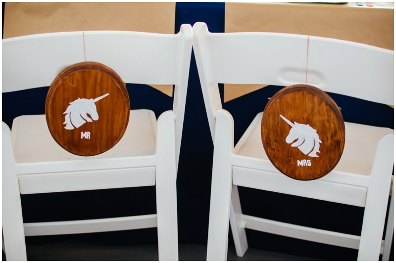 wedding chairs - mr and mrs signs
