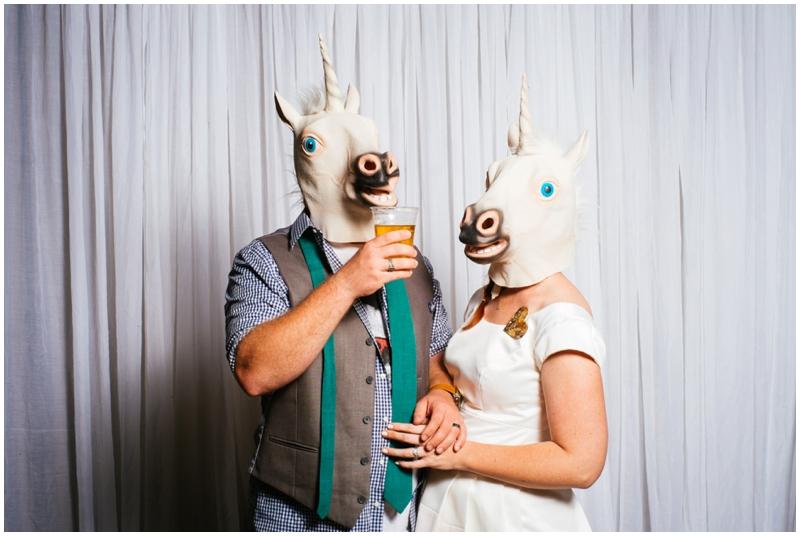 unicorn wedding masks