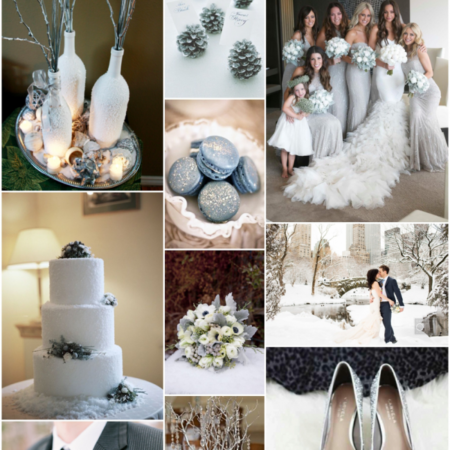 winter wedding inspiration - silver sparkle wedding inspiration