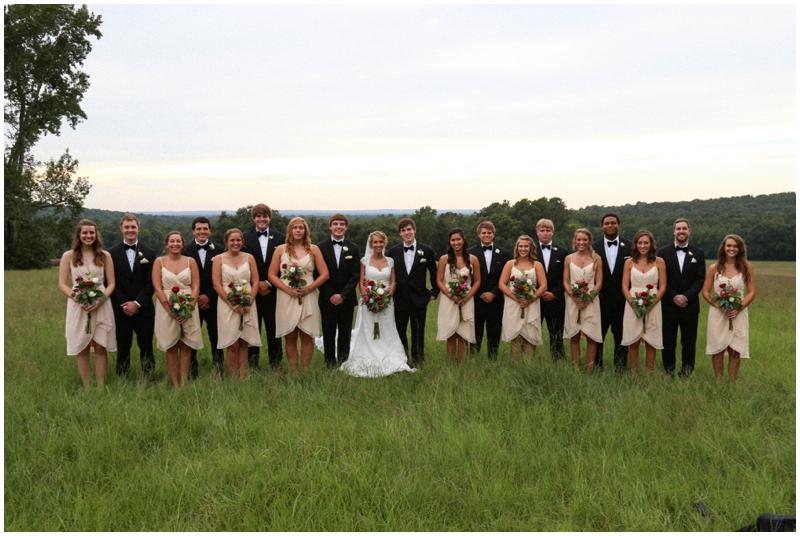 large wedding party