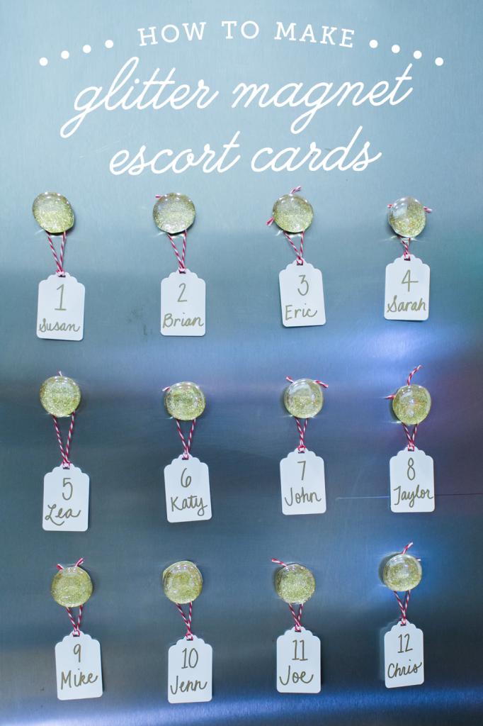 diy-glitter-magnet-escort-cards