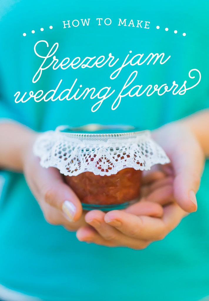 freezer jam wedding favors