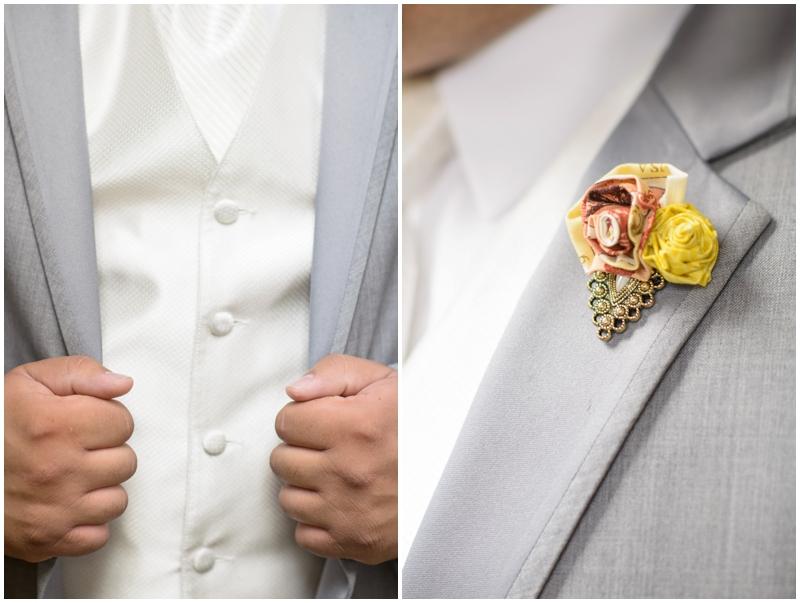 grooms suit details