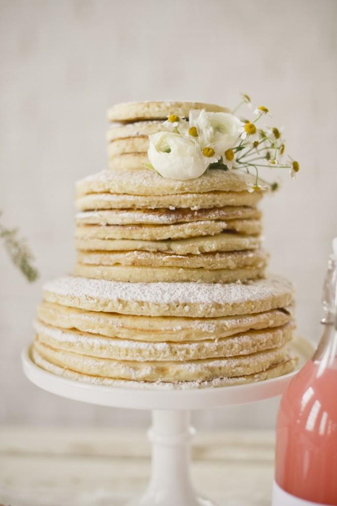 brunch wedding inspiration -- pancake cake! so great.