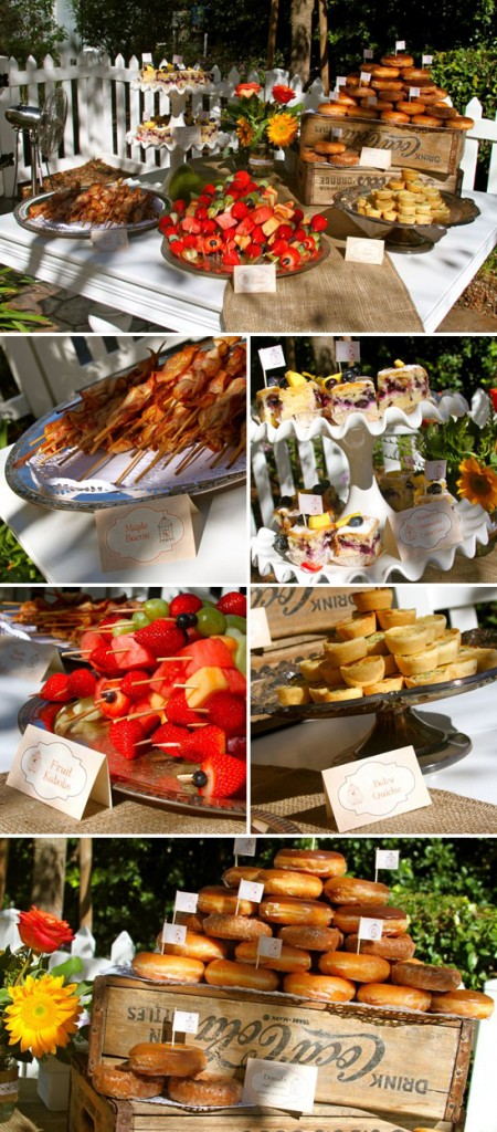 brunch wedding inspiration -- food display