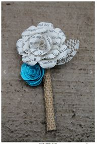 Mini paper flower boutonniere by CraftingbyKnight on Etsy