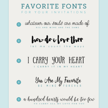 Budget Friendly Fonts for your wedding invitations
