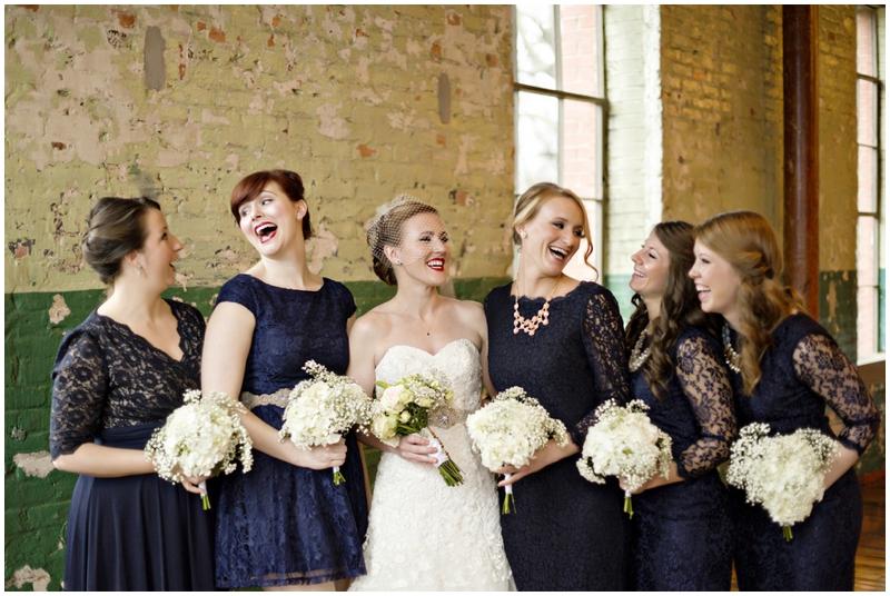 navy lace bridesmaids