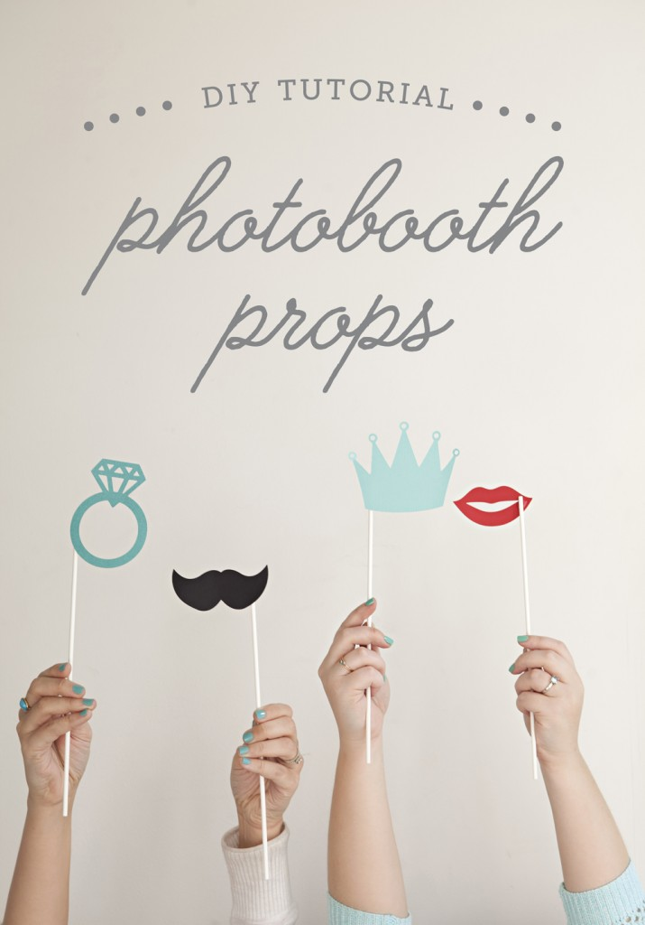 Jen and I love collaborating on DIY projects, and today we're sharing a super simple and awesome one on both our sites: How to easily make your own photo booth stick props!