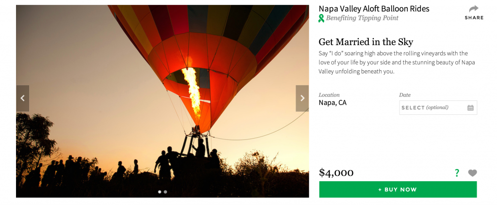 get married in a hot air balloon