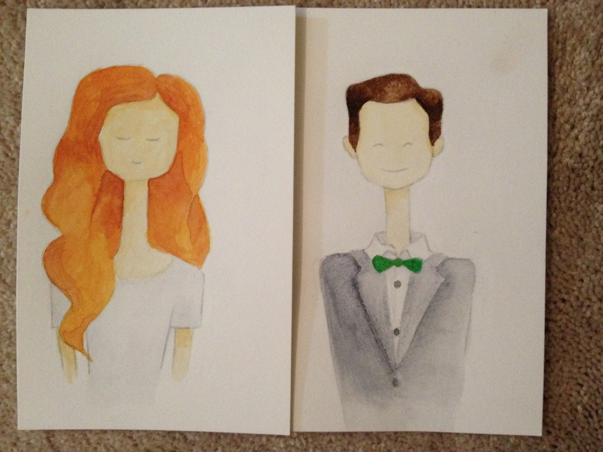 Wedding Couple Character Hand Painted