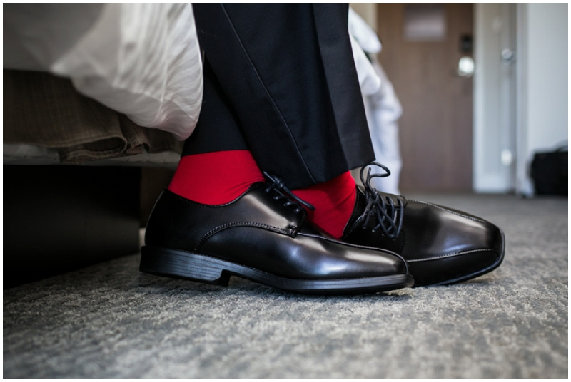 retro inspired wedding groom socks