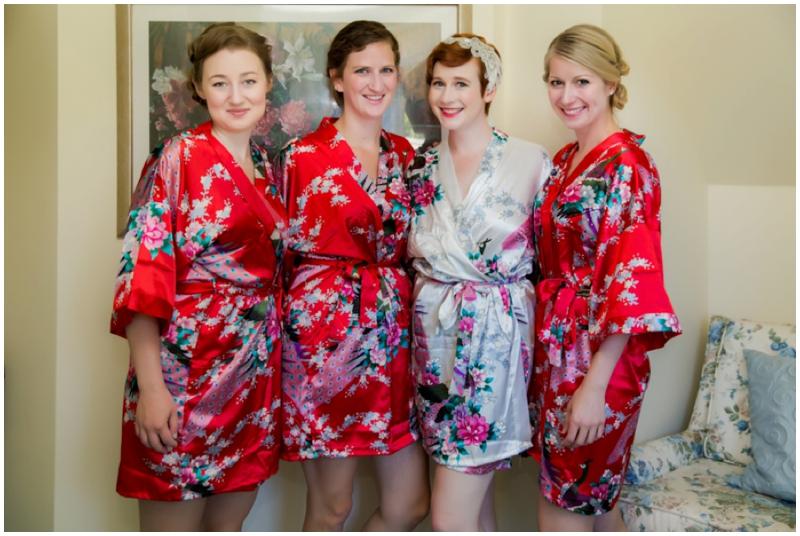 retro inspired bridesmaids robes
