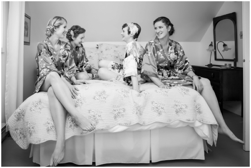 retro inspired bridesmaids slumber party