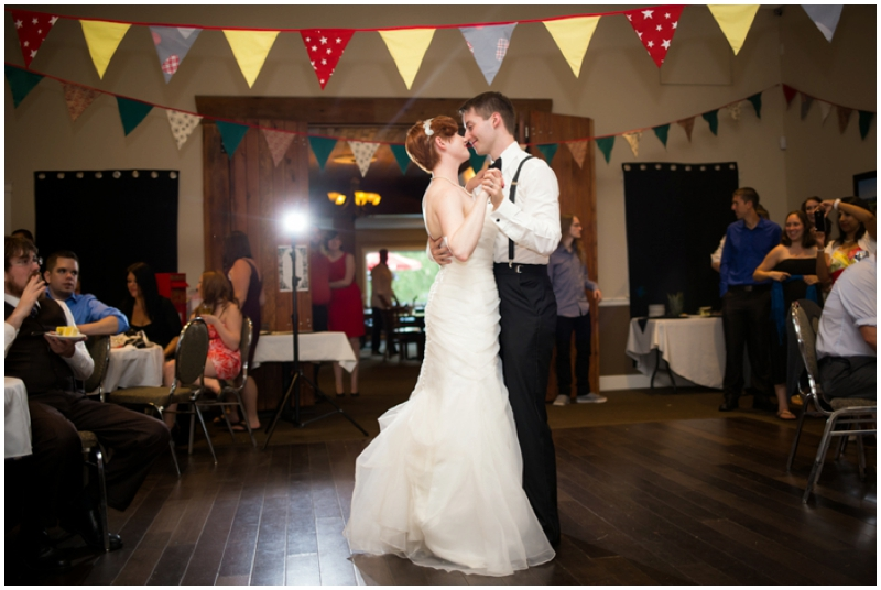 retro inspired wedding dance