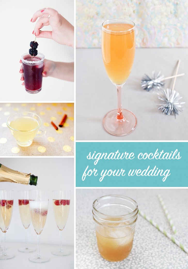 Signature Cocktail Recipes -- Photos by Nole Garey for Oh So Beautiful Paper & Mike Carreiro for Something Turquoise