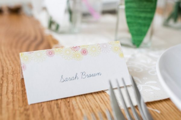 Spring Wedding Inspiration and DIYs table numbers