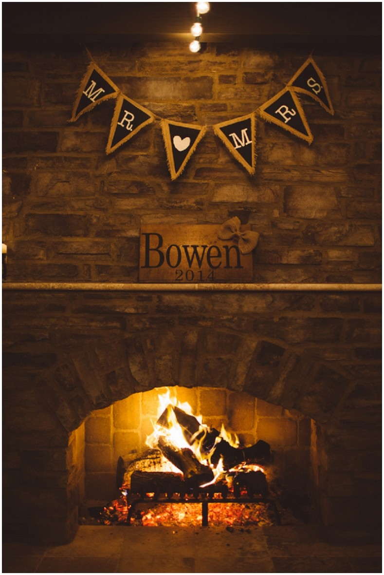 wedding fireplace