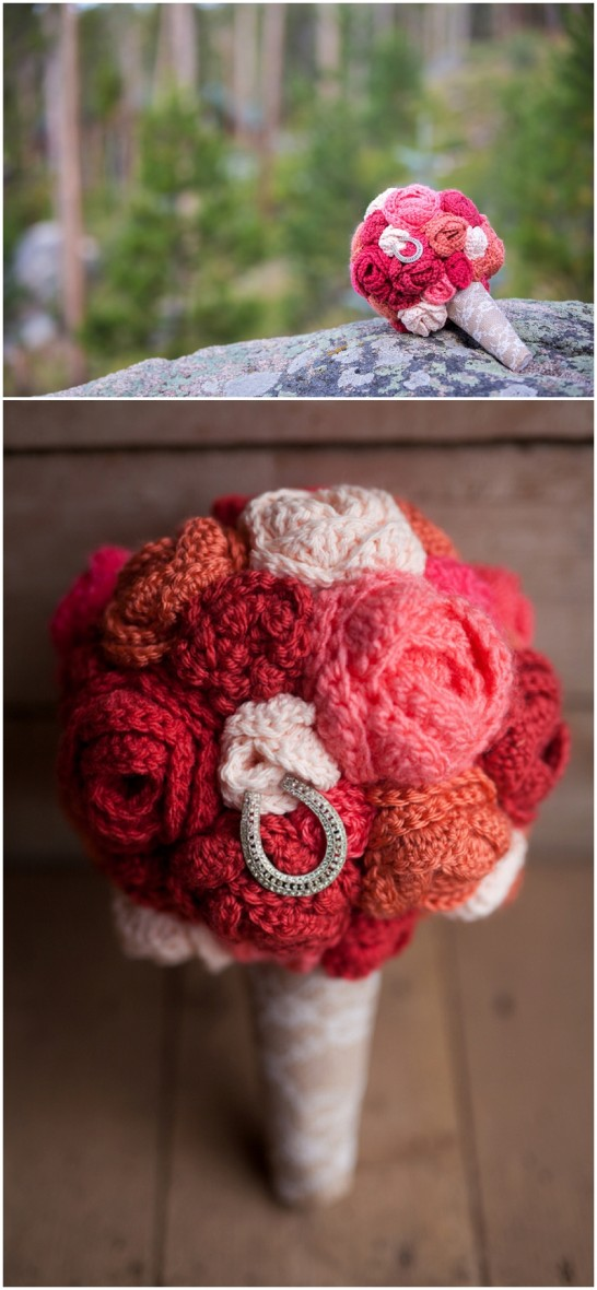 crocheted bouquet
