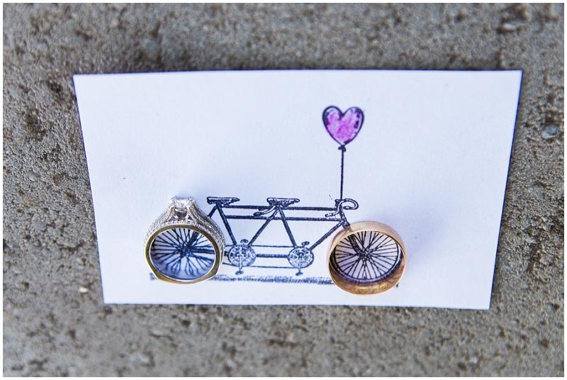 tandem bike card and rigns