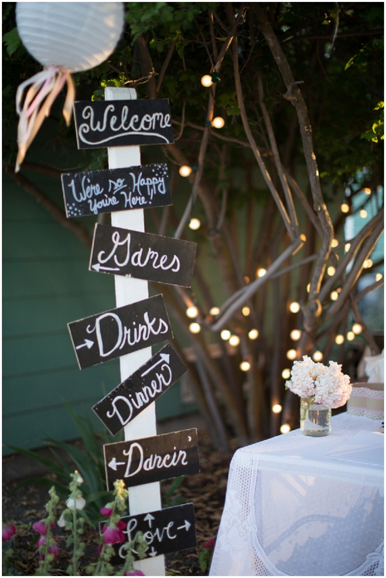 hand lettered signs